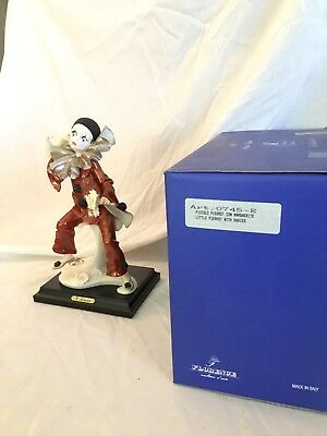 "G.armani Clown Ruffles ""little Pierrot With Daisies"" Figurine #745-E Box &tags"