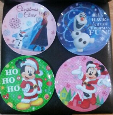 Disney christmas reuseable plates and cereal bowls