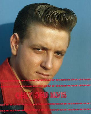 1950s EDDIE COCHRAN Rockabilly Singer 8x10 Photo STUNNING COLOR CLOSE-UP