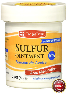 Max Strength 10 Sulphur Ointment Sulfur Cream Acne Blackhead Spot Cyst Zit Cure