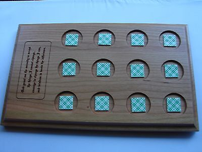 Alcoholics Anonymous AA Medallion Holder Serenity Prayer Display wood Plaque NA