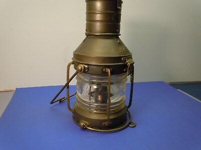 Vintage Large Brass Anchor, Ship Lantern, R.C. Murray & Co. Glasgow