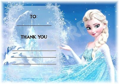 Disney Tinkerbell A6 Thank You For Coming Party Cards x 12 Landscape Design