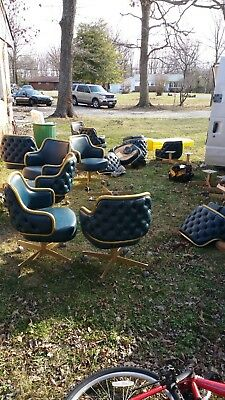 vintage Gasser swivel  lounge type chairs
