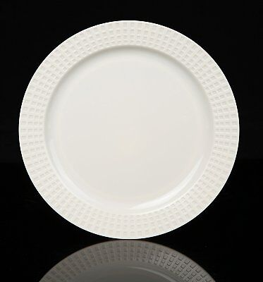 "OpenBox Home Value 7.5"" Elegant Round Plastic Dinner Plates, Ivory, 120 Count"