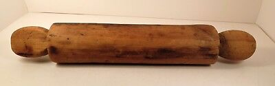 Antique Primitive Rolling Pin Hand Carved 1800's