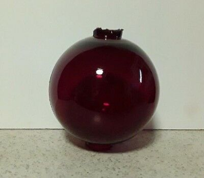 Red Ruby Glass Lightning Rod Ball Barn Garden Roof Patio Home Decor