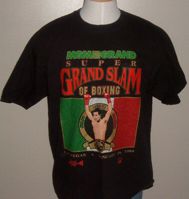 VINTAGE 1994 MGM Grand JULIO CESAR CHAVEZ Grand Slam Las Vegas Boxing T-Shirt XL