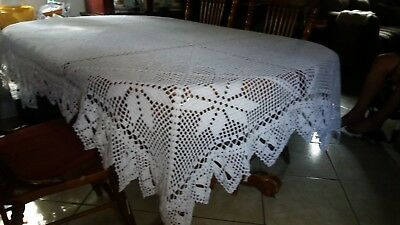 Handmade Crochet Vintage Lace Kitchen Table (of 6) Cover Tablecloth NEW