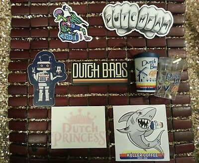 Dutch Bros Sticker LOT w/ Mini Dutch Bros Cup Ornaments