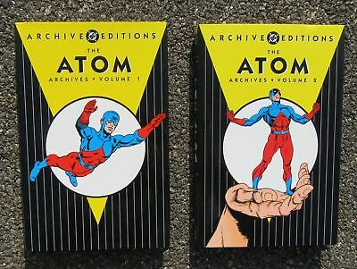 The Atom Archives 2 Vols. 2001-03 1st Printings DC ARCHIVE EDITIONS HARDCOVER DJ