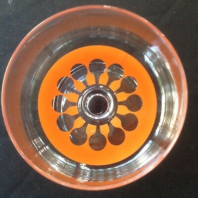 Orange Retro Dessert Glass Cup - Groovy 70s