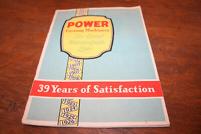 1926 Minneapolis Power Farming Machinery Brochure Tractors Threshers Steam!!