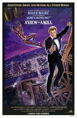 A View to a Kill (1985) original movie poster version A single-sided rolled