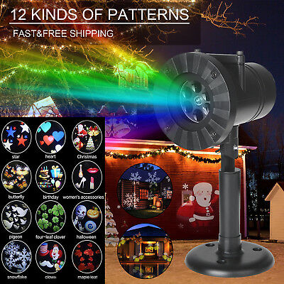 Waterproof IP65 LED Moving Laser Projector Landscape Halloween Xmas Party Light
