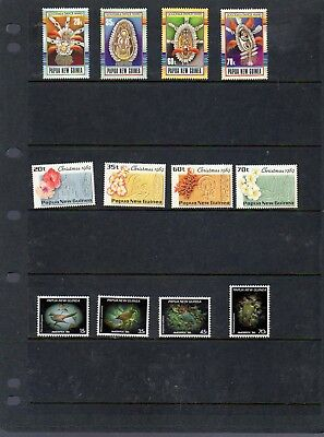 3 attractive MUH sets from PNG - see scan