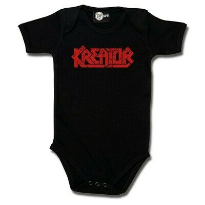 Kreator Baby One Piece Bodysuit Infant Metal Kids Romper Black Blue Pink White