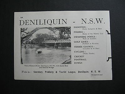 2 x Deniliquin TOURIST ADVERT.