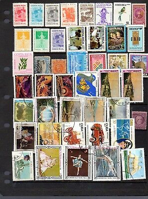 2 pages of stamps from Costa Rica and another latin american country.