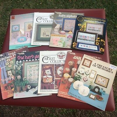 9 Vintage Cross Stitch Pattern Books/leaflets
