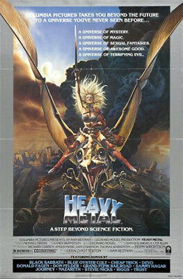 Heavy Metal (1981) original movie poster style A single sided folded