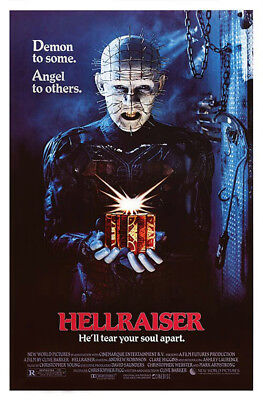 Hellraiser (1987) original movie poster single-sided rolled