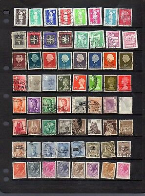 64 all different world stamps
