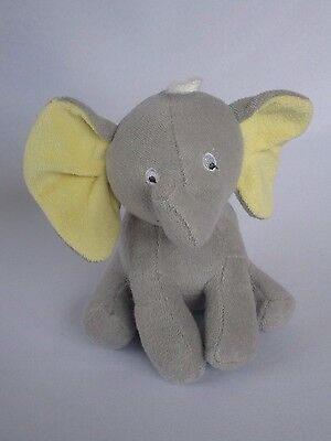 """Carter Gray/Grey ELEPHANT with Yellow  ears plush baby toy 7"""""""