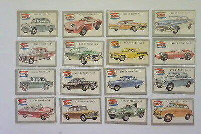 Ampol Cars of Today (1958) set of 32 cards (later print prize panel blacked out)