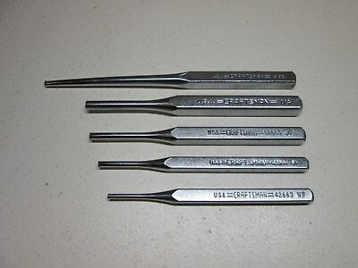 Vintage Craftsman Punch Punches Pin Linup Lot of 5pcs USA