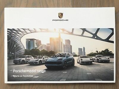 New MINT 2018 2019 Porsche full model range brochure sports car fascination book