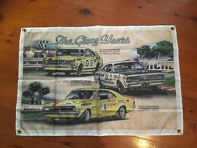 HT HK HG HOLDEN MONARO GMH GTS BEACHEY mancave flags shed poolroom wall hanging
