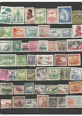 Chile 50 Mint & Used Stamps, Nice Lot.   See Scan