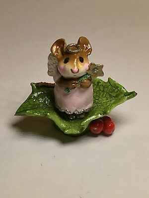 Wee Forest Folk M-230 Little Holly Angel, retired, perfect