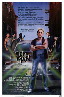 Repo Man (1984) original movie poster single-sided rolled