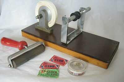 Misc Vintage Film Dark Room Items guessed to be film splicer and roller, blades