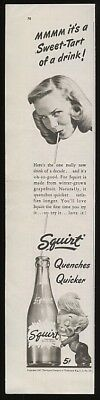 1947 Squirt Soda Sweet-Tart of a Drink Ad