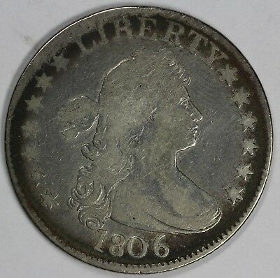 1806 25c Draped Bust Quarter UNSLABBED
