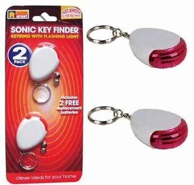 Sonic Whistle Key Ring Finder Flashing Beeping Remote Lost Keyfinder Locator New