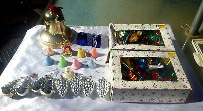 VINTAGE 1960's ASSORTMENT OF 32 CHRISTMAS DECORATIONS Inc BOXED JAPAN