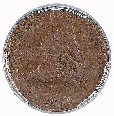 1857 Flying Eagle Cent VF-35 PCGS Certified