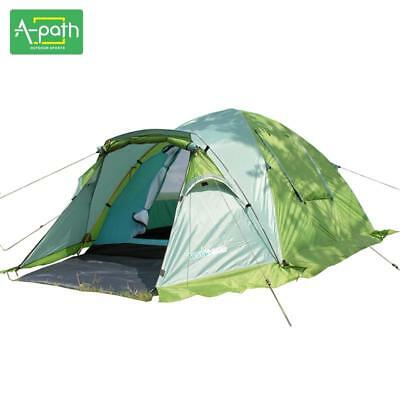 3-4 Person High Quality Double Layer Outdoor Camping Tent Tourist Travel 1 Room