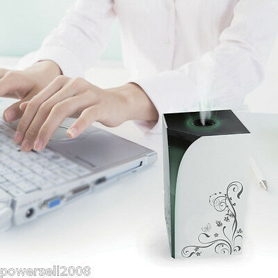 New Novelty Fashion High-End Mini Ultrasonic White USB 90ML Air Humidifier