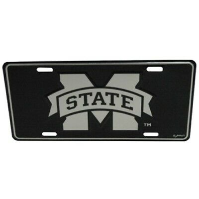 Mississippi State Bulldogs Elite Car Truck Tag License Plate Black Sign Man Cave