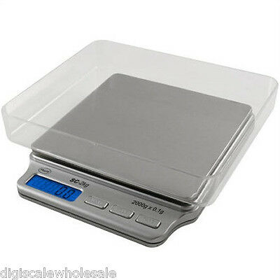 2000g x 0.1g Pocket Scale SC-2KG Troy Ounce Stainless American Weigh Scales AMW