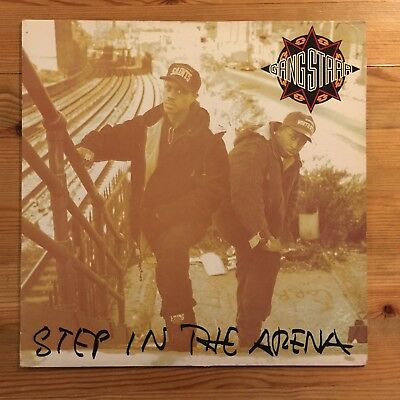 Gang Starr – Step In The Arena LP. UK 1st   Chrysalis – CTLP 21