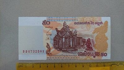 GENUINE 2002 CAMBODIA 50 RIELS Bank note UNC x 10, consecutive numbers!