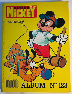 ALBUM LE JOURNAL DE MICKEY n°123 ¤ avec n°1789 à 1797 ¤ 1986 DISNEY