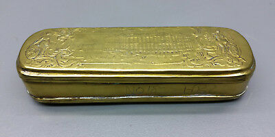SNUFFBOX/Tobacco Tin - Amsterdam - Brass - 18 Century