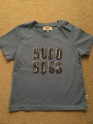 Baby Boy Hugo Boss Blue Tshirt 9-12 Months